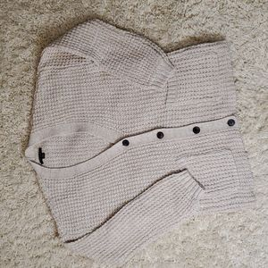 AMERICAN EAGLE Slouchy Waffle Button-Up Ca…